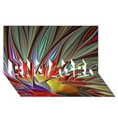 Fractal Bird of Paradise ENGAGED 3D Greeting Card (8x4)