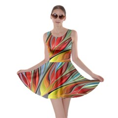 Fractal Bird of Paradise Skater Dress