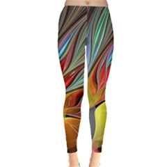 Fractal Bird of Paradise Leggings