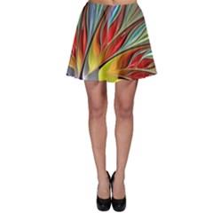 Fractal Bird of Paradise Skater Skirt