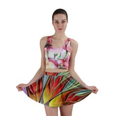 Fractal Bird of Paradise Mini Skirt