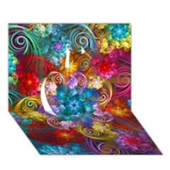 Spirals And Curlicues Apple 3D Greeting Card (7x5)