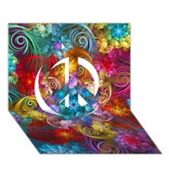 Spirals And Curlicues Peace Sign 3D Greeting Card (7x5)