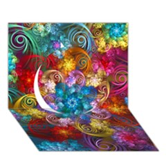 Spirals And Curlicues Circle 3D Greeting Card (7x5)