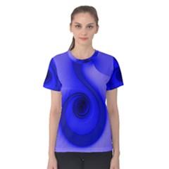 Blue Spiral Note Women s Cotton Tee