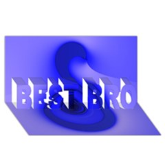 Blue Spiral Note BEST BRO 3D Greeting Card (8x4)