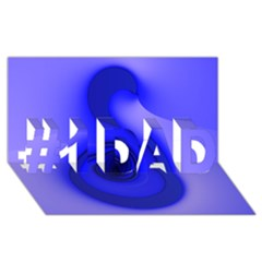 Blue Spiral Note #1 DAD 3D Greeting Card (8x4)