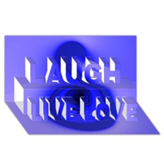Blue Spiral Note Laugh Live Love 3D Greeting Card (8x4)