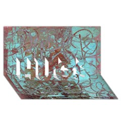 Urban Graffiti Grunge Look HUGS 3D Greeting Card (8x4)