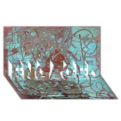 Urban Graffiti Grunge Look ENGAGED 3D Greeting Card (8x4)