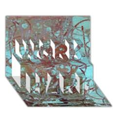 Urban Graffiti Grunge Look WORK HARD 3D Greeting Card (7x5)