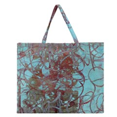 Urban Graffiti Grunge Look Zipper Large Tote Bag