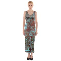 Urban Graffiti Grunge Look Fitted Maxi Dress