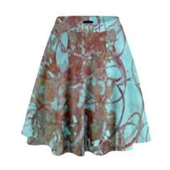 Urban Graffiti Grunge Look High Waist Skirt