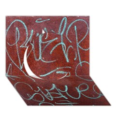 Urban Graffiti Rust Grunge Texture Background Circle 3D Greeting Card (7x5)