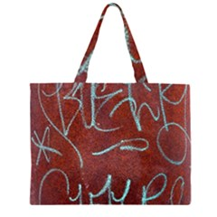 Urban Graffiti Rust Grunge Texture Background Large Tote Bag