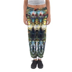 Metallic Abstract Flower Copper Patina Women s Jogger Sweatpants