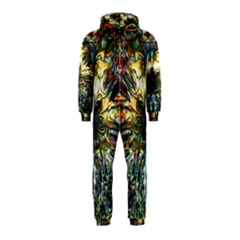 Metallic Abstract Flower Copper Patina Hooded Jumpsuit (Kids)