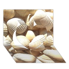 Tropical Exotic Sea Shells Heart 3D Greeting Card (7x5)