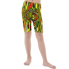MAGIC WORD Kid s Mid Length Swim Shorts