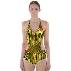 MAGIC WORD Cut-Out One Piece Swimsuit