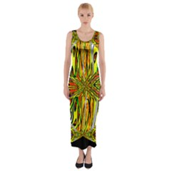 MAGIC WORD Fitted Maxi Dress