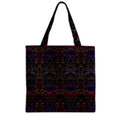 PURPLE 88 Zipper Grocery Tote Bag