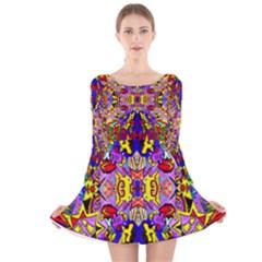 Psyco Shop Long Sleeve Velvet Skater Dress