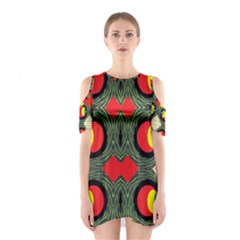 Exile Planet Cutout Shoulder Dress