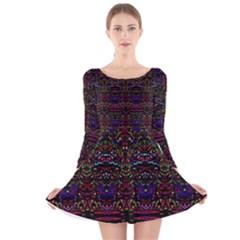 Bubble Up Long Sleeve Velvet Skater Dress