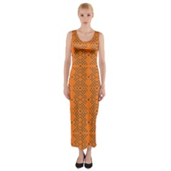 SYSTEM PLUTO 3 Fitted Maxi Dress