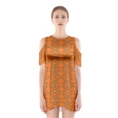 Pluto Star Cutout Shoulder Dress