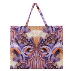 Fire Goddess Abstract Modern Digital Art  Zipper Large Tote Bag