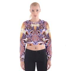 Fire Goddess Abstract Modern Digital Art  Women s Cropped Sweatshirt