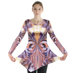 Fire Goddess Abstract Modern Digital Art  Long Sleeve Tunic