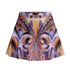 Fire Goddess Abstract Modern Digital Art  Mini Flare Skirt