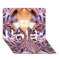 Fire Goddess Abstract Modern Digital Art  HOPE 3D Greeting Card (7x5)