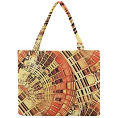 Semi Circles Abstract Geometric Modern Art orange Mini Tote Bag