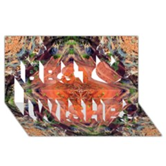 Boho Bohemian Hippie Floral Abstract Faded  Best Wish 3D Greeting Card (8x4)