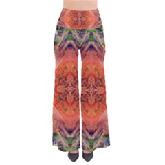 Boho Bohemian Hippie Floral Abstract Faded  Pants