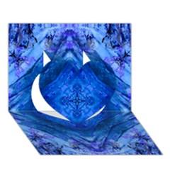 Boho Bohemian Hippie Tie Dye Cobalt Heart 3D Greeting Card (7x5)