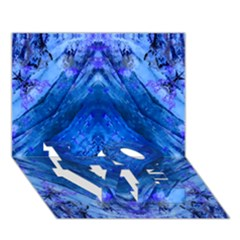Boho Bohemian Hippie Tie Dye Cobalt LOVE Bottom 3D Greeting Card (7x5)