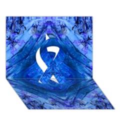 Boho Bohemian Hippie Tie Dye Cobalt Ribbon 3D Greeting Card (7x5)
