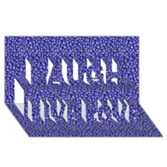 Abstract Texture Laugh Live Love 3D Greeting Card (8x4)