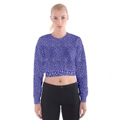 Abstract Texture Print Women s Cropped Sweatshirt