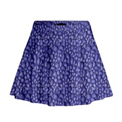 Abstract Texture Print Mini Flare Skirt