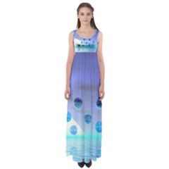 Moonlight Wonder, Abstract Journey To The Unknown Empire Waist Maxi Dress
