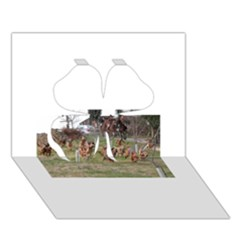 Bloodhounds Working Clover 3D Greeting Card (7x5)