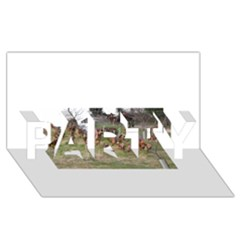 Bloodhounds Working PARTY 3D Greeting Card (8x4)