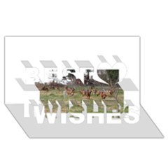 Bloodhounds Working Best Wish 3D Greeting Card (8x4)